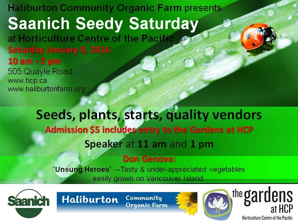 Saanich Seedy Saturday!