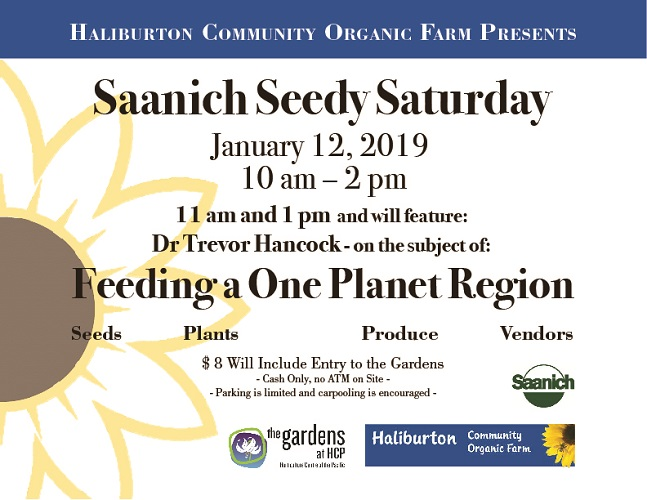 Saanich Seedy Saturday 2019 coming up January 12!